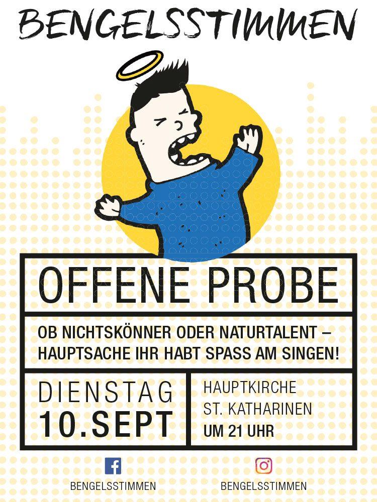 Flyer zur offenen Probe am 10. September 2019