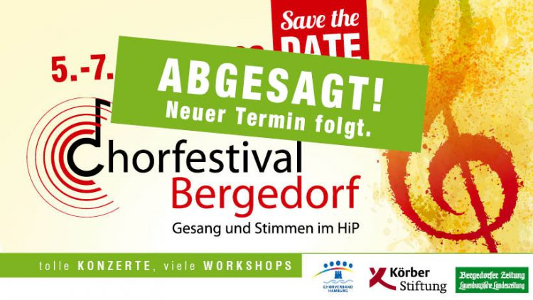 Chorfestival Bergedorf 2020 abgesagt