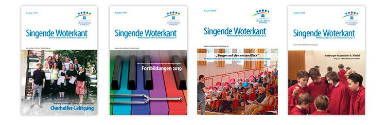 Titelbilder der Singenden Woterkant